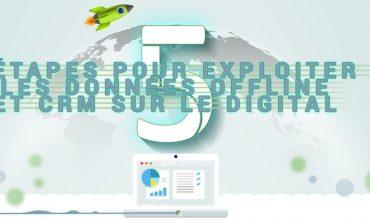 [Infographie] 5 étapes pour exploiter les données offline et CRM sur le digital
