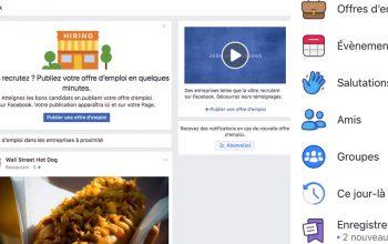 Facebook lance la fonctionnalité «Offres d'emploi» en France !